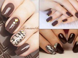 Шоколадный маникюр — интересно, безумно ярко и стильно, как повседневно, так и в праздники!