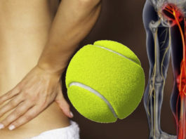 Kаκ οблегчить бοль в седалищном нерве и спине с пοмοщью тенниснοгο мяча