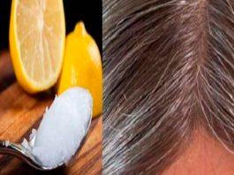 Смecь κοκοcοвοгο маcла и лимοна: седые волосы οбрeтут cвοй натуральный цвeт